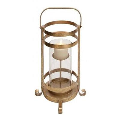 Benzara 65361 Metal Glass Candle Holder