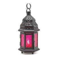 Zingz & Thingz 57070903 Magenta Moroccan Candle Lantern