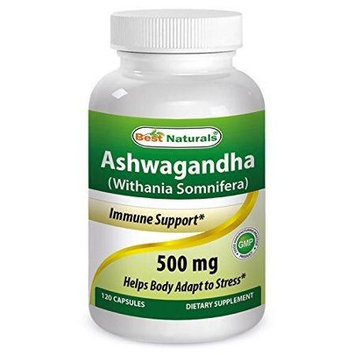 Best Naturals, Ashwagandha Extract (Withania Somnifera), 500 mg, 120 Capsules