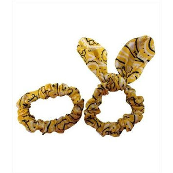 Coveryouhair CoverYourHair 61300 Set Of Two Paisley Scrunchies Yellow