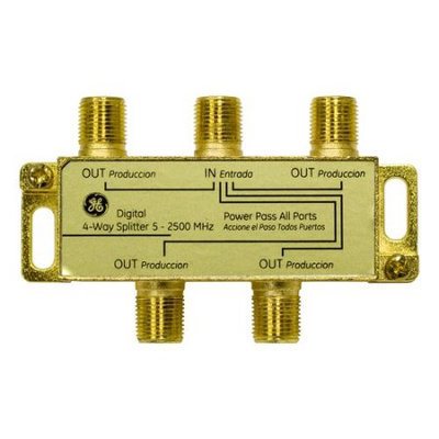 GE 4-Way Digital Video Splitter - (Gold) 87625