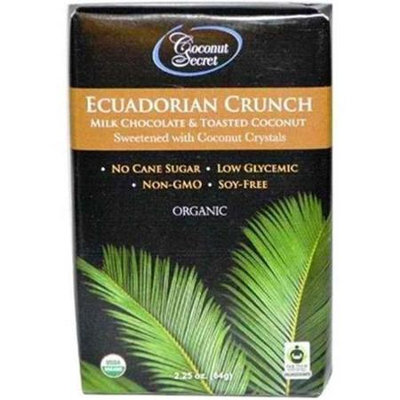 Coconut Secret BG11643 Coconut Secret Ecuad MlkChocolate Br - 12x2.25OZ