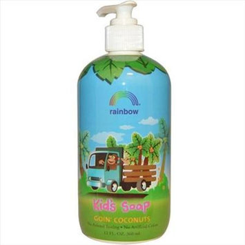 Kids Soap Goin' Coconuts Rainbow Research 12 oz Liquid