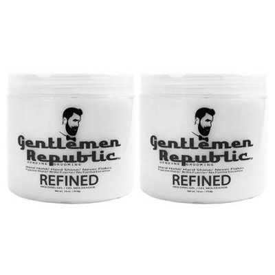 2 Pack Gentlemen Republic 16oz Grooming Hard Hold & Shine Mold Hair Styling Gel
