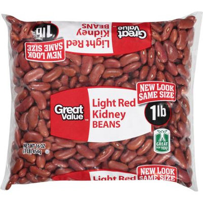 Great Value: Kidney Light Red Beans, 16 Oz