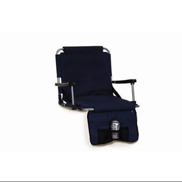 Cc Home Furnishings Portable Stadium Seat With Arm Rests & Pockets - Navy Blue