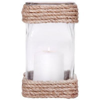 Home Essentials & Beyond Inc Home Essentials 69583 9 in. H Montauk Square Rope Hurricane