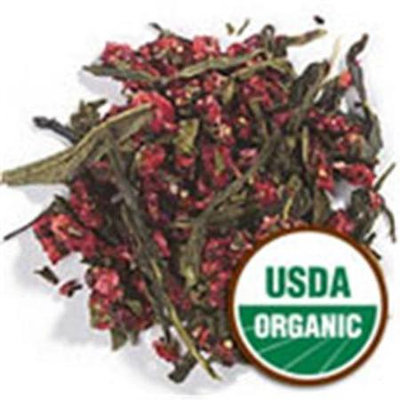 Frontier Natural Products Green Tea Organic Strawberry Flavored - 16 oz