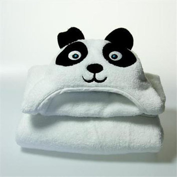 Little Ashkim HTP002 Toddler Panda Hooded Turkish Towel - White 2 Years-5 Years