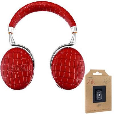 Parrot Zik 3 Wireless Noise Cancelling Touch Control Bluetooth Headphones Red + Battery