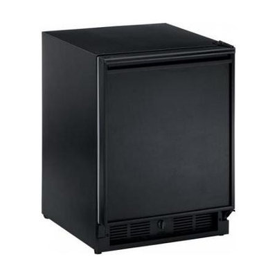 U-line ADA Series 3.3 Cu. Ft. Single Door Refrigerator Finish: Black, Hinge: Right, Lock: Yes