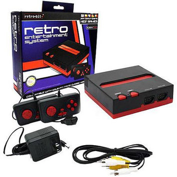 Retro-Bit Original NES Console 8 Bit Top Loader Black/Red Retro Entertainment System