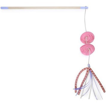 Worldwise Loved Ones Flower Feather Bloom Cat Wand-Pink