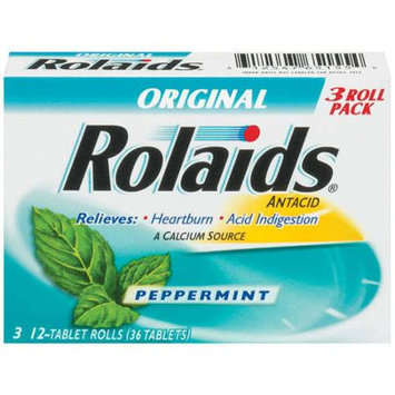 Rolaids Antacid/Calcium Supplement, Original, Peppermint, Tablets