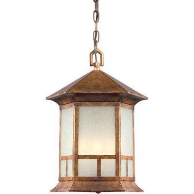 Series 13 Rustic Sienna Four-Light Outdoor Pendant