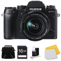 Fujifilm X-T1 16.3MP Full HD 1080p Video Mirrorless Digital Camera 18-55mm Lens 16GB Kit