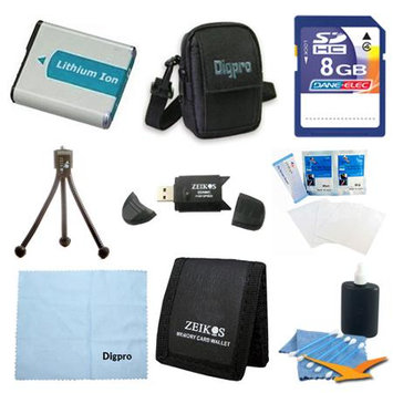 Special Fully Loaded Value 8GB Card and NB-4L Battery Kit for Canon ELPH 100, 300 & 310