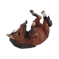 Zeckos Brown Horse Single Wine Bottle Holder Kitchen Decor