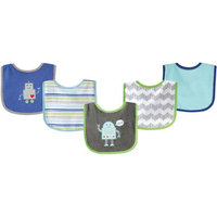 Baby Vision Luvable Friends 5 Pack Drooler Bibs - Robot
