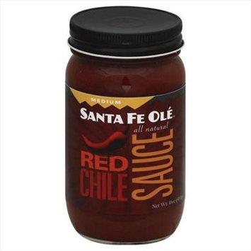 Santa Fe Ole 16 oz. Roasted Red Chile Mild Sauce Case Of 6