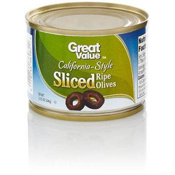 Great Value: Sliced California Ripe Olives, 2.25 Oz