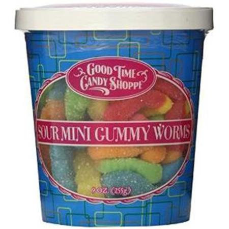 Pepper Creek Farms 195I Sour Mini Gummy Worms - Pack of 12