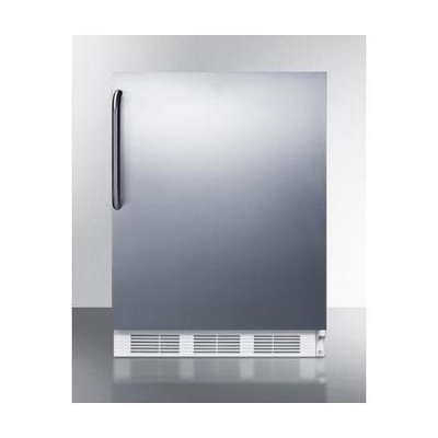 SUMMIT Commercial undercounter refrigerator with stainless steel door and towel bar handle