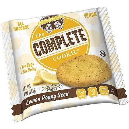 Lenny & Larry's The Vegan Complete Cookie Lemon Poppy Seed 12 Cookies