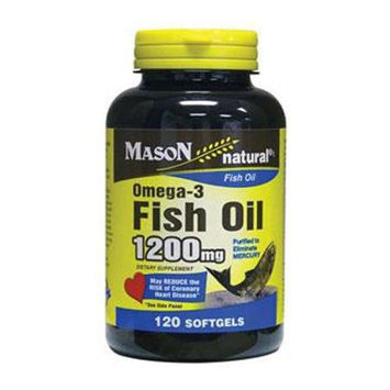 Omega 3 Fish Oil 1200 mg, 120 Softgels, Mason Natural