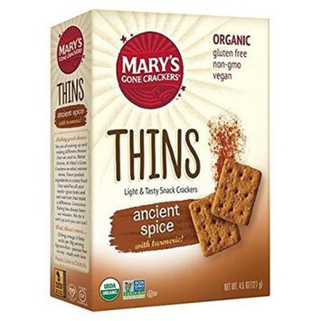 Mary's Gone Crackers THINS, OG2, ANCIENT SPICE, (Pack of 6)