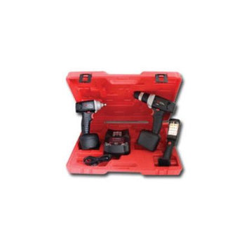 Chicago Pneumatic Cordless Kit - 3-Tool, 12 Volt, Li-Ion, Model# CP8738L