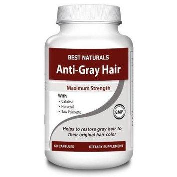 Best Naturals #1 Anti-Gray Hair Forumla - Highest Quality - 60 Capsules