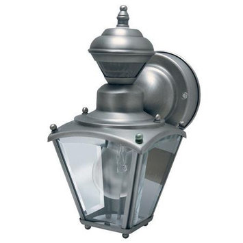 Heath Zenith Sl-4131-SC Solid Brass Motion Activated Lantern, Silver Pewter