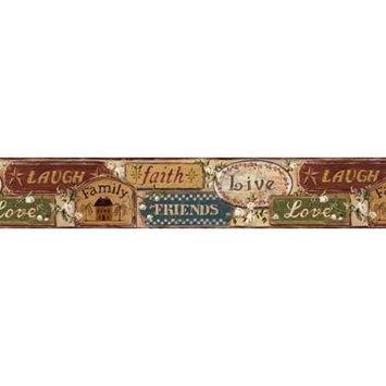 Chesapeake Live, Laugh, Love Wallpaper Border FFR65403B