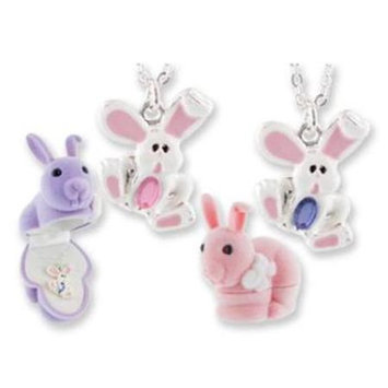 D.m. Merchandising Bunny Animal Necklace in Bunny Box(Case of 24)
