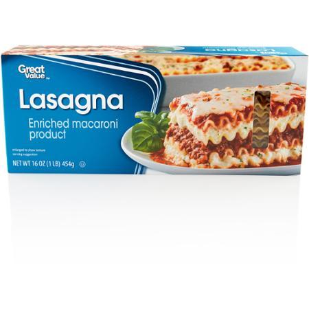 Great Value: Lasagna, 16 oz