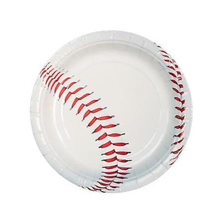 "Ddi Baseball 7"" Paper Plates(Case of 6)"
