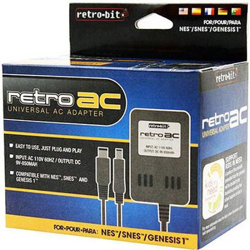 Retro-Bit Universal-Adapter- AC Power Charger compatible with NES/SNES/GENESIS