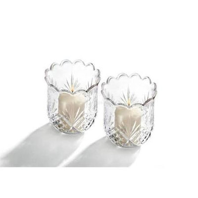 Studio Silversmiths StudioSilversmiths 44265 Pr Crystal Votives Cut Design