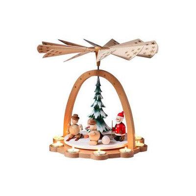 Alexander Taron Importer Alexander Taron 16271 Tea Light Santa/Snowman Pyramid Christmas Ornament