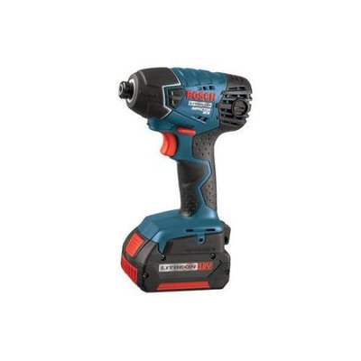 BOSCH 25618-01 Cordless Impact Driver Kit,18V,1/4 In.