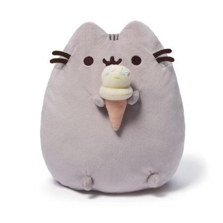 Pusheen the Cat with Ice Cream Cone Plush