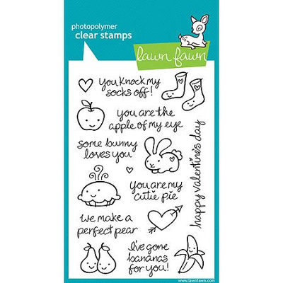 Notions Marketing Lawn Fawn 4 x 6 inch Clear Stamps - My Silly Valentine