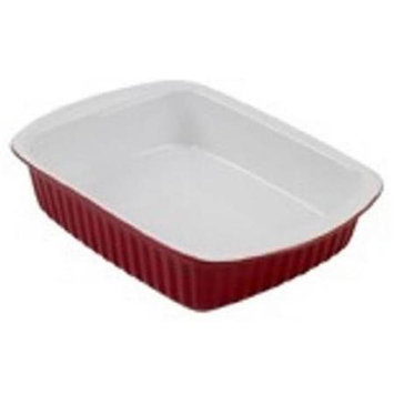 2.5 Quart Red Ceramic Rectagular Dish 04408 by Bradshaw