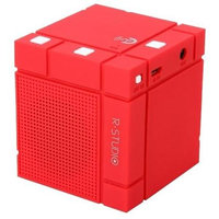 Rosewill R-Studio Rechargeable Light Portable Wireless Red Bluetooth 4.0 Speaker