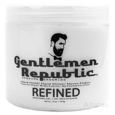 Gentlemen Republic 16oz Grooming Hard Hold & Shine Refined Mold Styling Gel