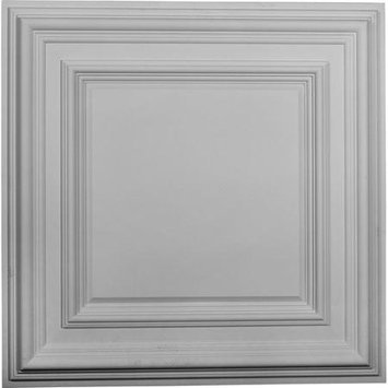 Ceiling Medallions: Ekena Millwork Building Materials 23-3/4 in. Classic Square Ceiling Medallion CM24CL