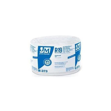 Johns Manville R19 15-in x 39.16-ft Unfaced Fiberglass Roll Insulation with Sound Barrier B373