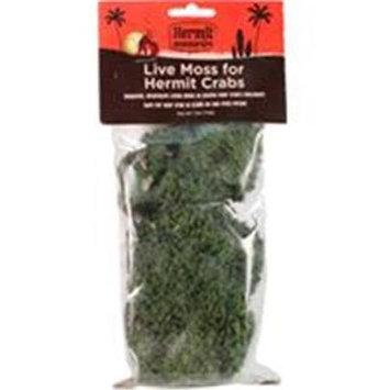 Flukers FLUKER'S Hermit Headquarters Live Moss For Hermit Crabs .5 Oz. Green