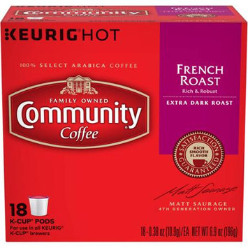 Community Coffee for Keurig(R) K-Cup(R) Brewers - French Roast - 18ct Box